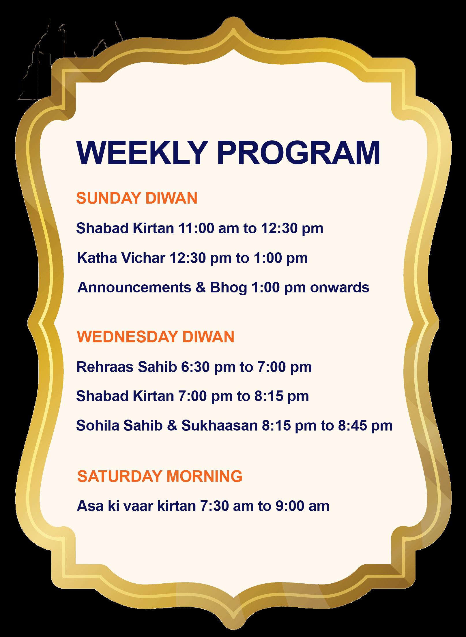 Weekly Programs - Houston Sikh Center